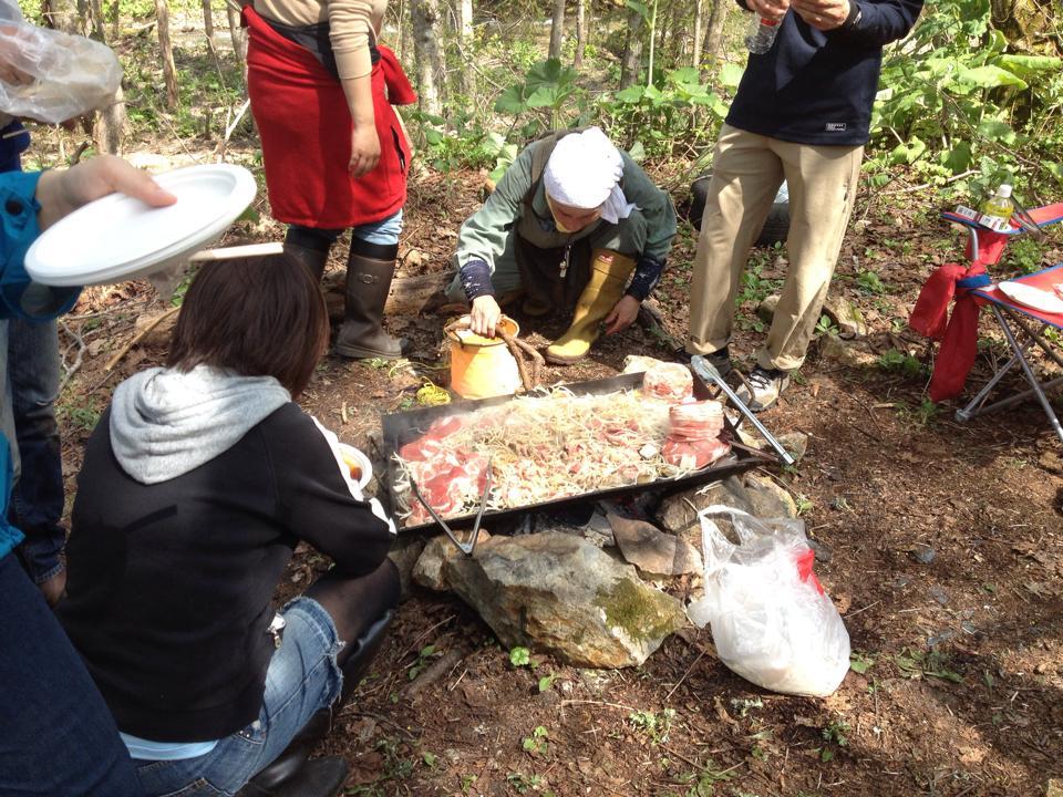 山菜採りの授業